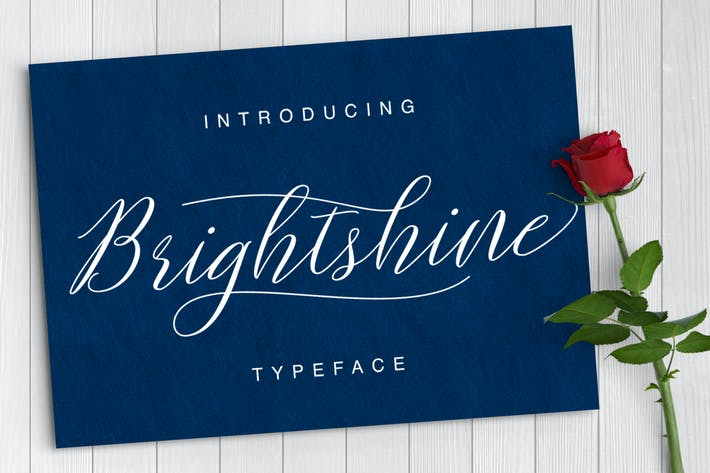 Thumbnail for Brightshine Typeface