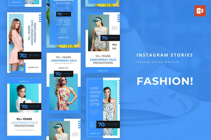 Thumbnail for Super Fashion Instagram Story Powerpoint Template