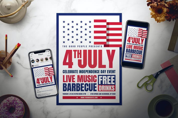 Thumbnail for Fourth of July Flyer Set
