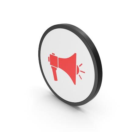 Icon Megaphone Red