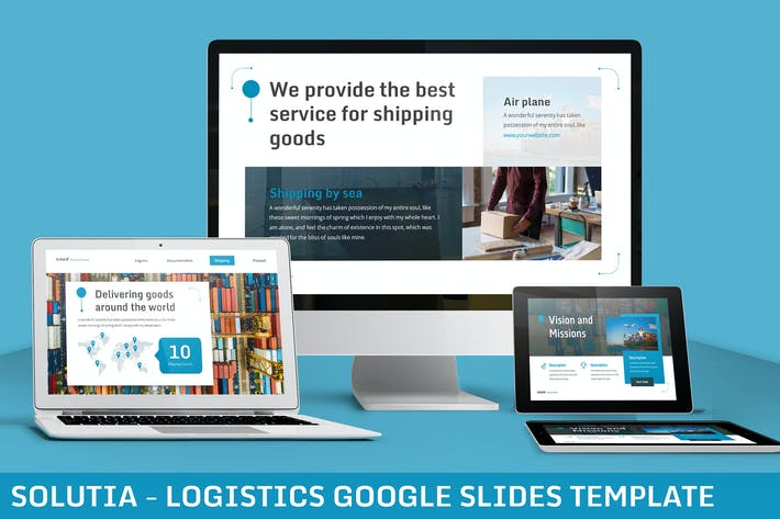 Thumbnail for Solutia - Logistics Google Slides Template