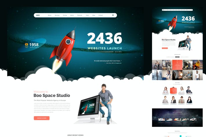 Thumbnail for Landing Page Rocket