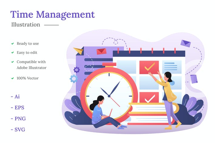 Thumbnail for Zeitmanagement Illustration