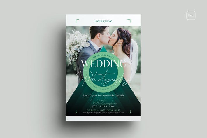 Hochzeitsfotografie Flyer