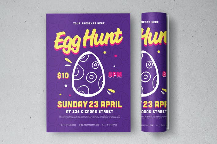 Thumbnail for Egg Hunt Flyer