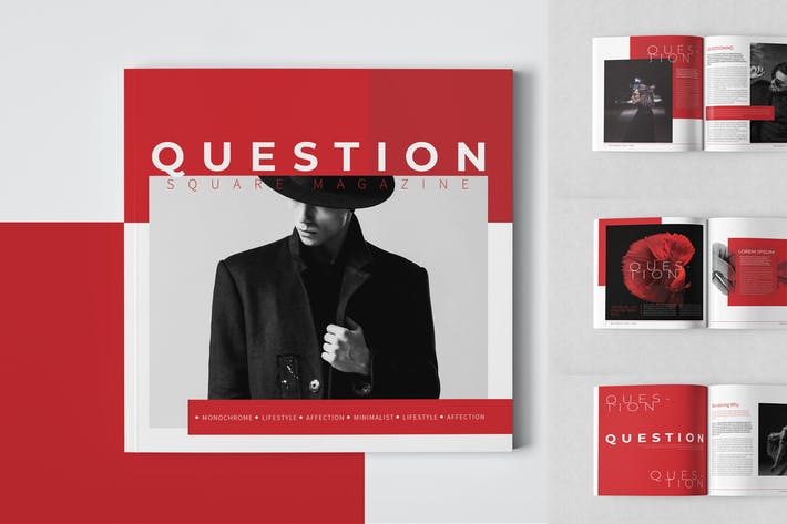 Question Square Magazine Template