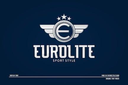 EUROLITE - Спортивный шрифт +
