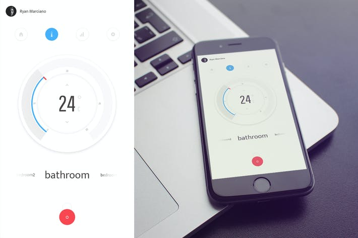 Thumbnail for Thermostat UI Kit