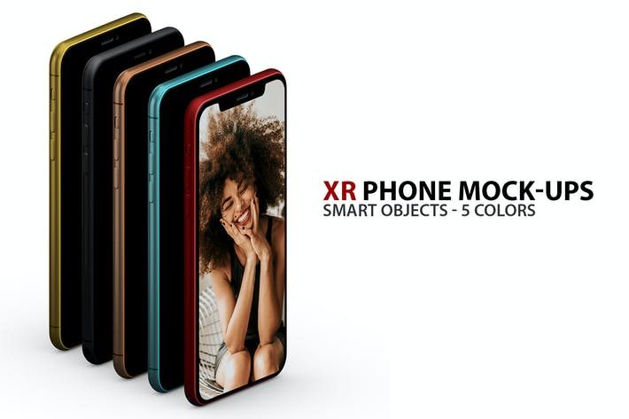 Thumbnail for XR Phone Mock-ups with Smart Objects