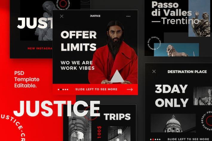 Justice - Insta Story & Post Social Media Vol.2