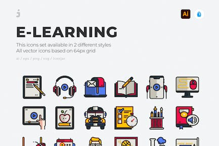 30 E-Learning Icons