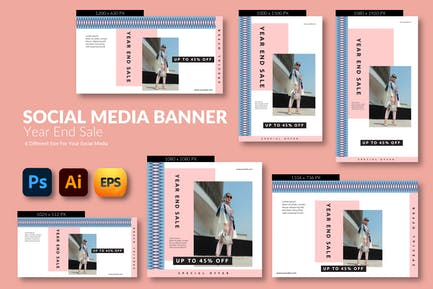 Year Sale – Social Media Banner Template