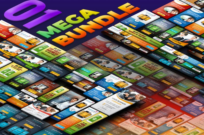Thumbnail for Business und Mobile App Banner Ads - Mega Bundle 1