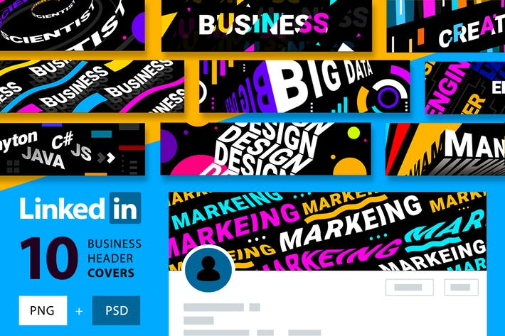 Thumbnail for LinkedIn | editable covers