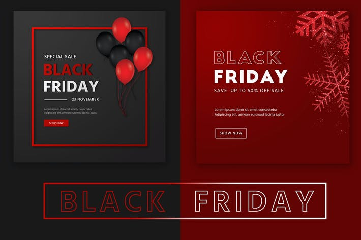 Thumbnail for Black Friday Social Media Banner