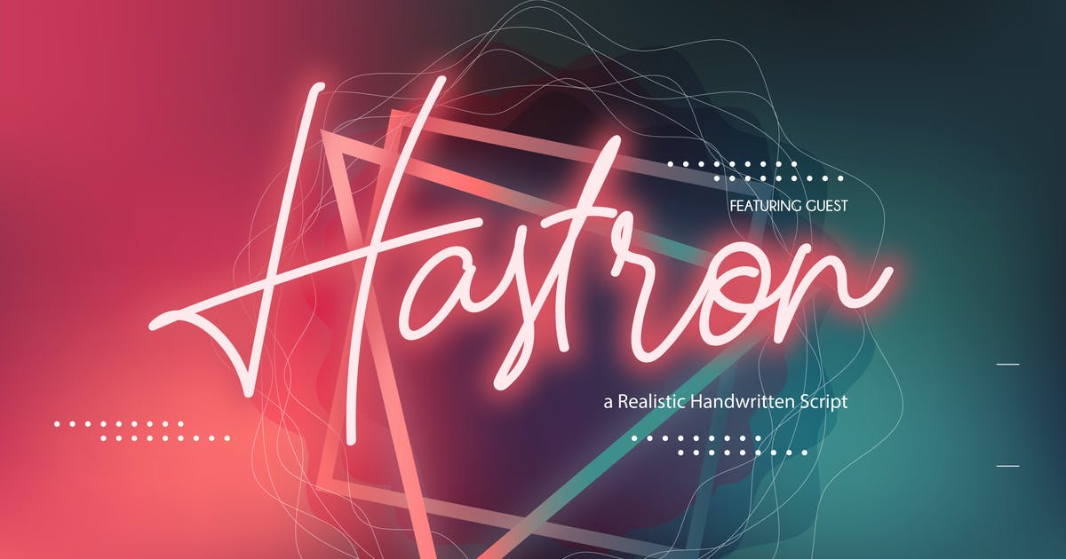 Download Hastron | Neon Monoline Script by Vunira