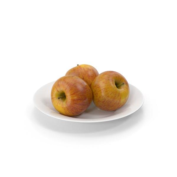 Teller mit Äpfeln