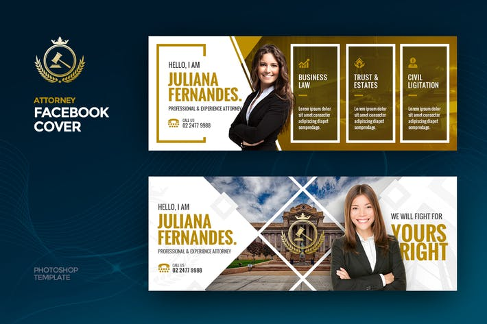Thumbnail for Attorney Facebook Cover Template
