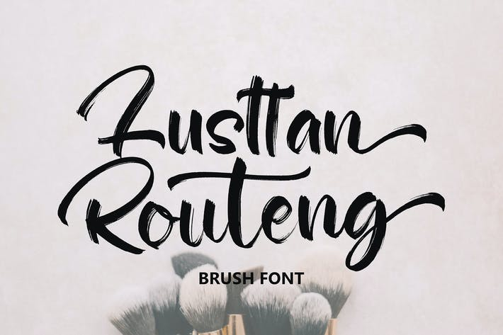 Thumbnail for Lusttan Routeng Brush Font