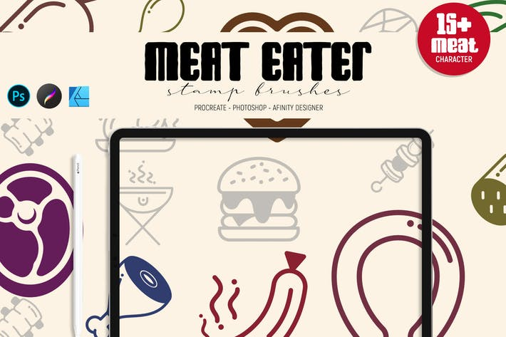 Thumbnail for Meat Eater | Stamp Brushes