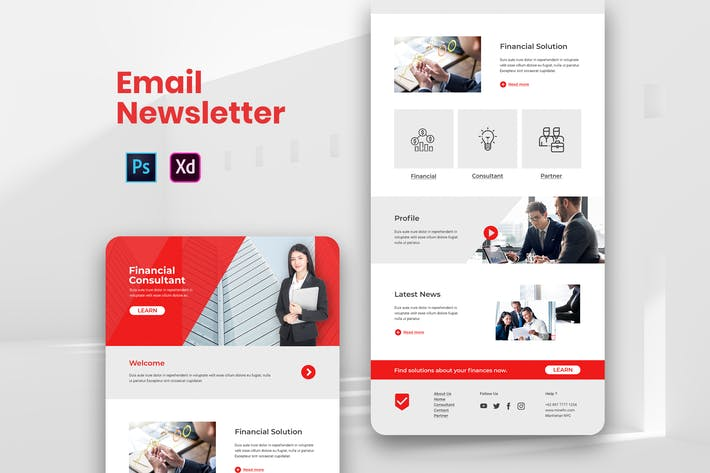 Thumbnail for Corporate Email Newsletter