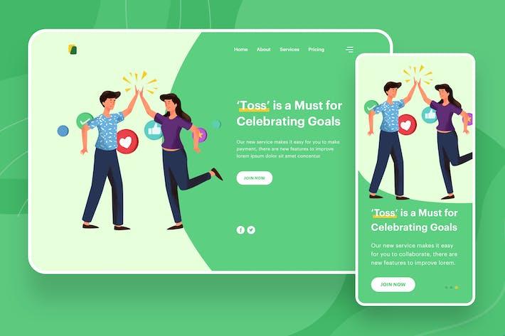 Thumbnail for Toss Illustration - Website Header