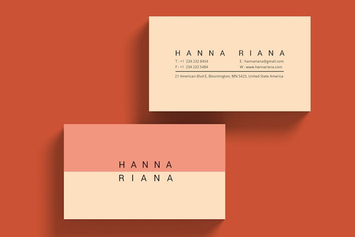 Cover Image For Minimalis Personal branding Business Card