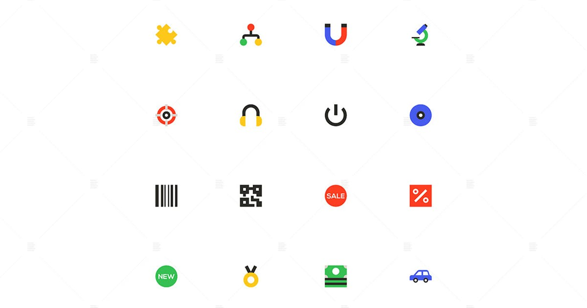 Download Marketing and shopping - material design icons by BoykoPictures