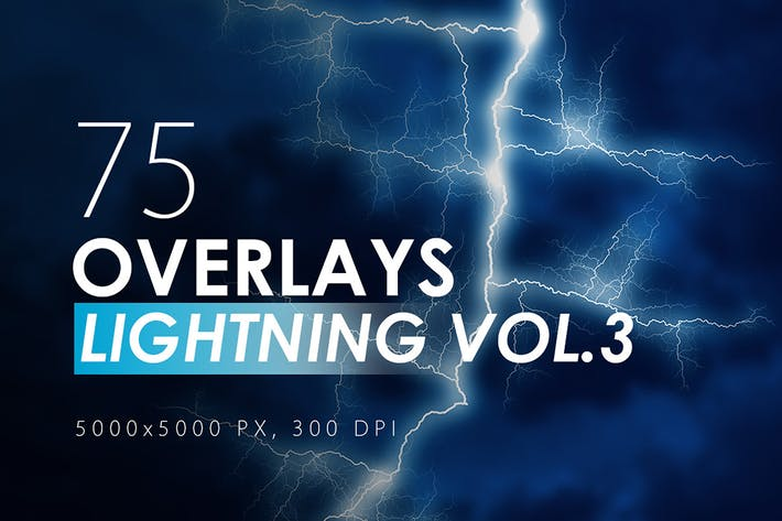 Cover Image For 75 Lightning Overlays Vol. 3