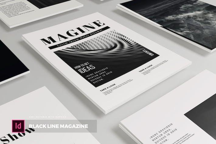Thumbnail for Black Line | ZeitschriftenVorlage
