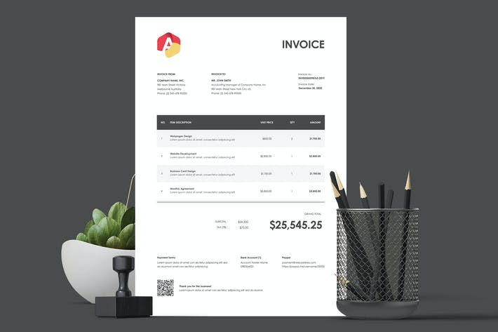 Thumbnail for Invoice Template 21