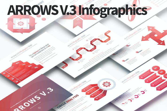 ARROWS V.3 - PowerPoint Infographics Slides