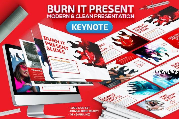 Thumbnail for Burn It Keynote Presentation Template