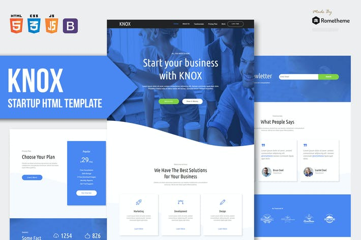 Thumbnail for KNOX - App Landing Page HTML Template
