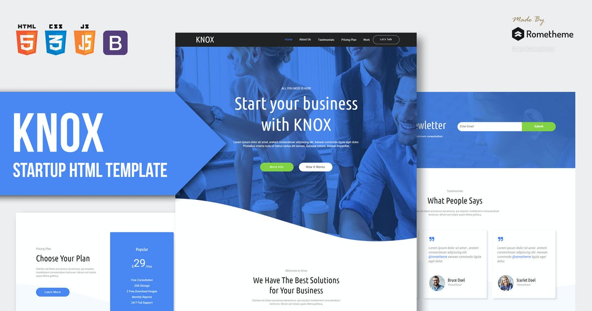 Download KNOX - App Landing Page HTML Template RS by Rometheme