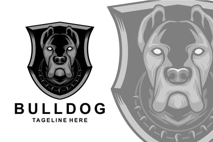 Bulldog shield logo