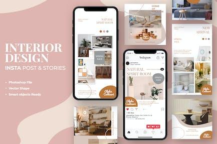 Interior Design Instagram Stories & Post Template