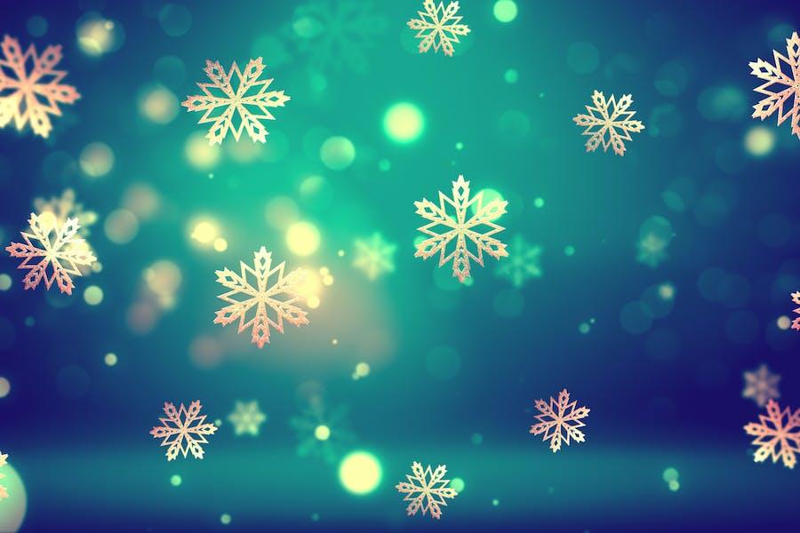 Christmas Gold Snowflakes 2