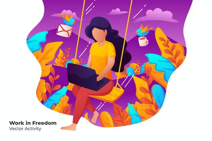 Arbeit in Freiheit - Vektor illustration