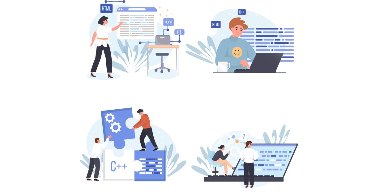 Download Programming Company Concept Scenes Set by DesignSells