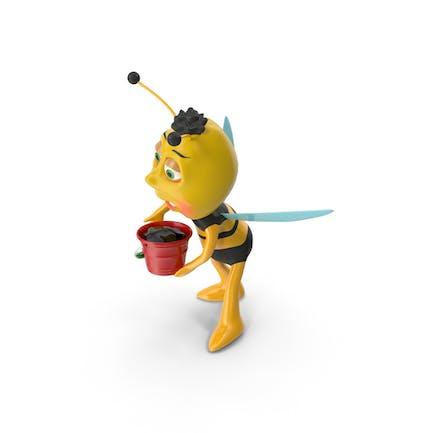 Biene und Bucket