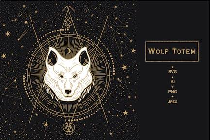 Tierisches Totem. Wolf