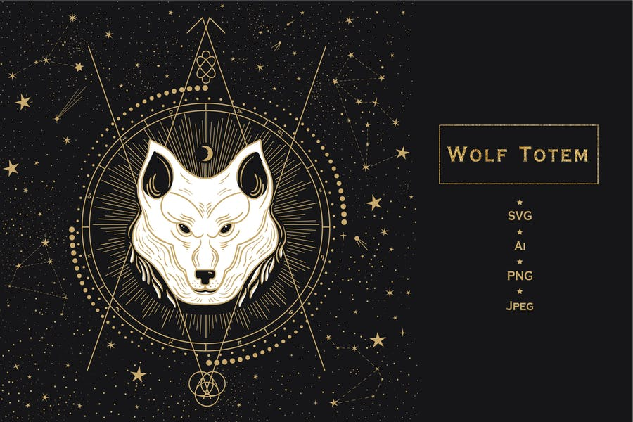 Animal Totem. Wolf