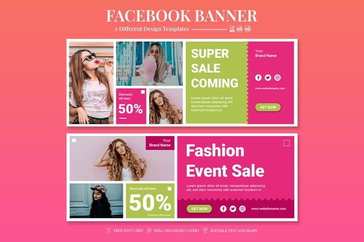 Facebook Banner - Fashion Event