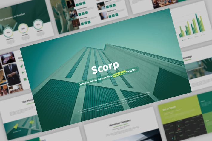 Thumbnail for Scorp - Company Presentation PowerPoint Template
