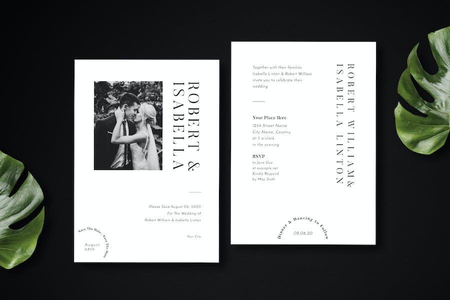 Simple Wedding Invitation 07