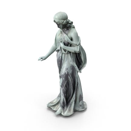 Bronze-Frauen-Statue
