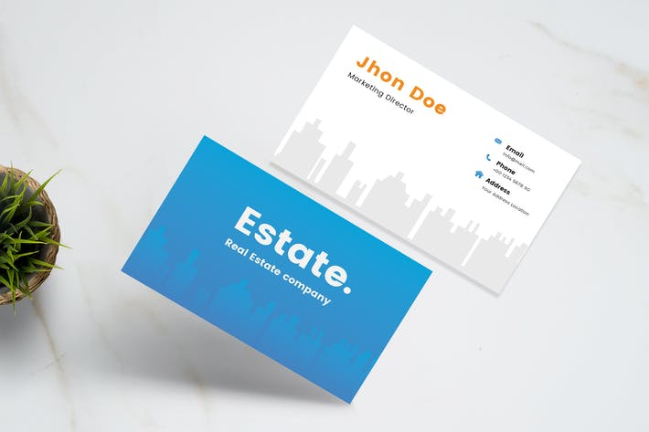 Thumbnail for Clean Real Estate Business Card