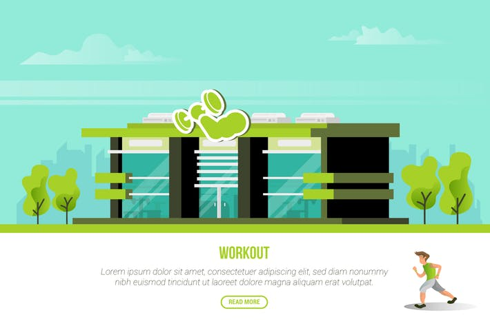 Thumbnail for Workout - Vector Landscape & Building
