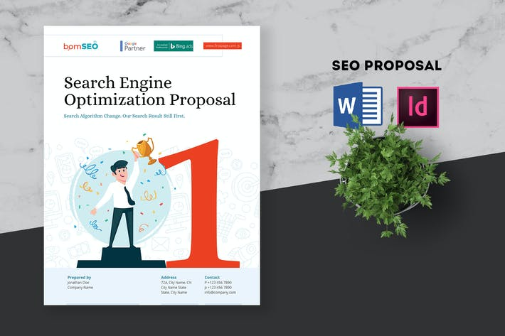 Thumbnail for SEO Proposal - Search Engine Optimization MS Word